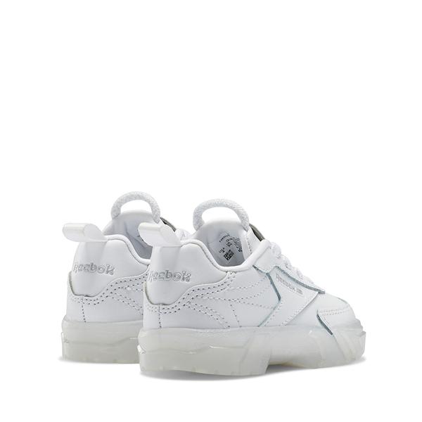 alternate view Reebok x Cardi B Club C Athletic Shoe - Baby / Toddler - White / ClearALT4