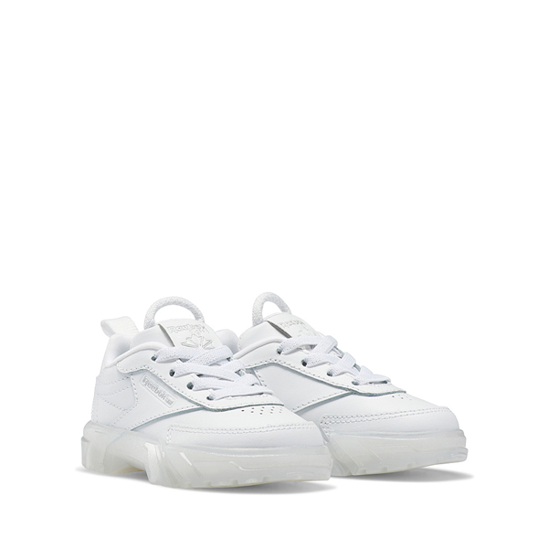 alternate view Reebok x Cardi B Club C Athletic Shoe - Baby / Toddler - White / ClearALT5