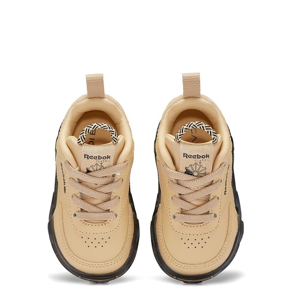 alternate view Reebok x Cardi B Club C Athletic Shoe - Baby / Toddler - Tan / ClearALT2