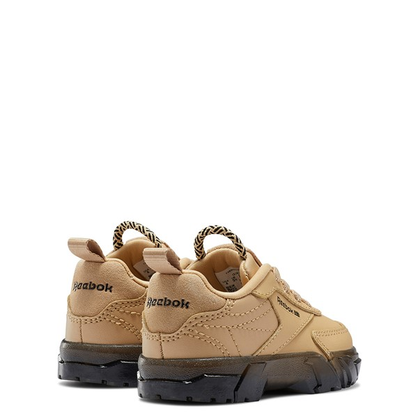 alternate view Reebok x Cardi B Club C Athletic Shoe - Baby / Toddler - Tan / ClearALT4