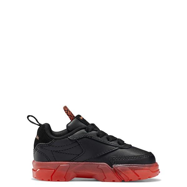 alternate view Reebok x Cardi B Club C Athletic Shoe - Baby / Toddler - Black / Vector RedALT1