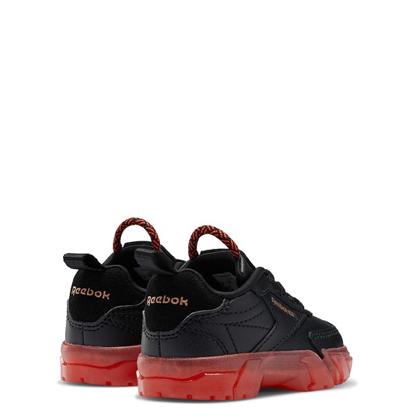alternate view Reebok x Cardi B Club C Athletic Shoe - Baby / Toddler - Black / Vector RedALT4