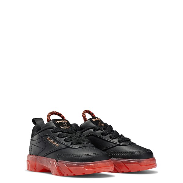 alternate view Reebok x Cardi B Club C Athletic Shoe - Baby / Toddler - Black / Vector RedALT5