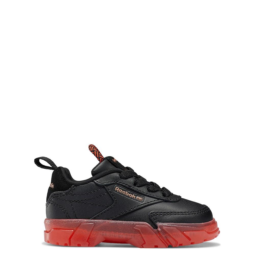 Reebok x Cardi B Club C Athletic Shoe - Baby / Toddler - Black / Vector Red