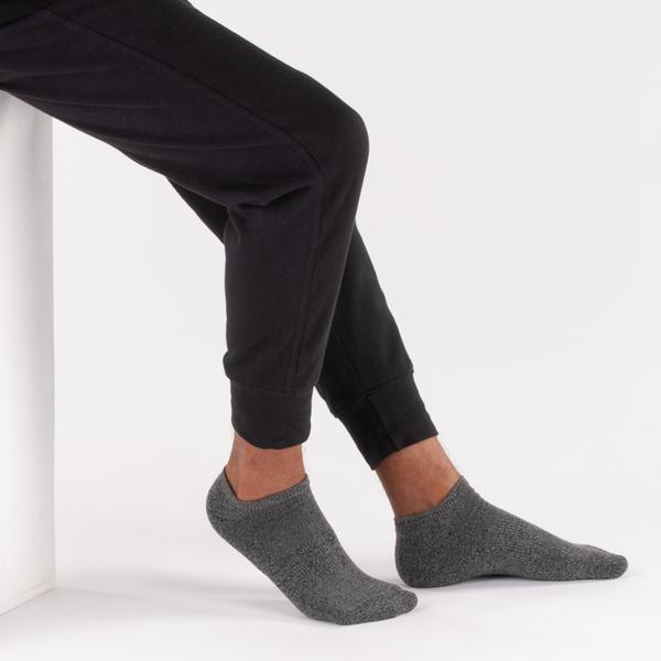 alternate view Mens Marled Cushion Footie Socks 5 Pack - MulticolorALT1