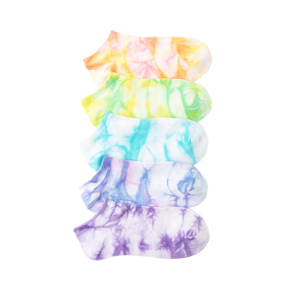 Tie Dye Footies 5 Pack - Big Kid - Multicolor
