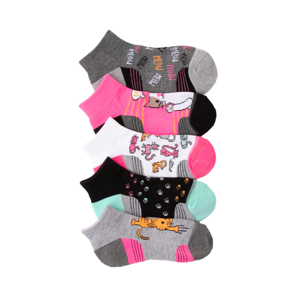 Main view of Kitty Footies 5 Pack - Little Kid - Multicolor