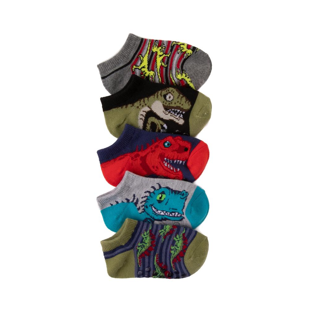Dino Gripper Footies 5 Pack - Toddler - Multicolor