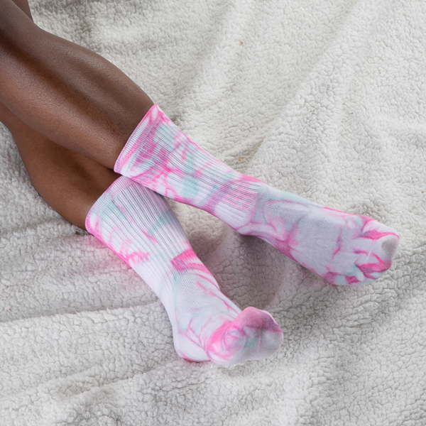 alternate view Womens True Tie Dye Crew Socks 5 Pack - MulticolorALT1