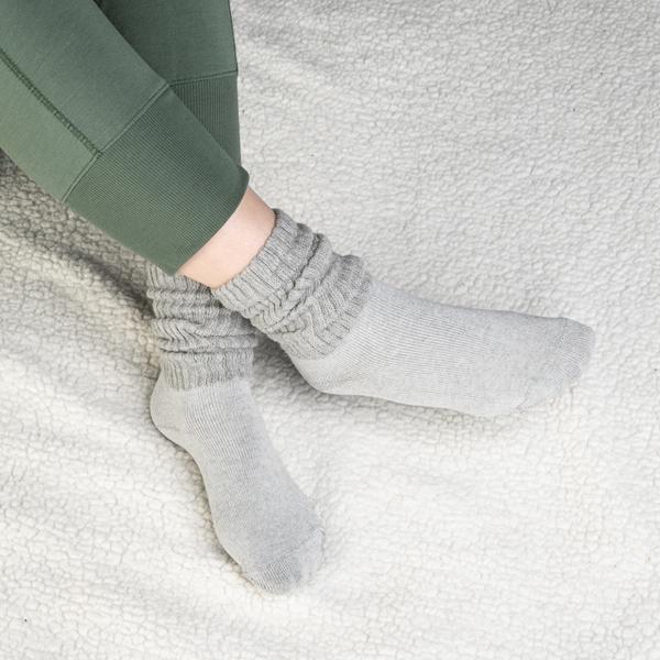alternate view Womens Slouch Socks 3 Pack - Black / White / GreyALT1