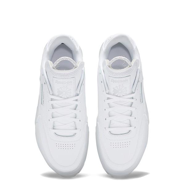 alternate view Womens Reebok x Cardi B Club C Athletic Shoe - White / ClearALT2