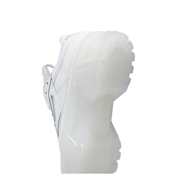 alternate view Womens Reebok x Cardi B Club C Athletic Shoe - White / ClearALT3