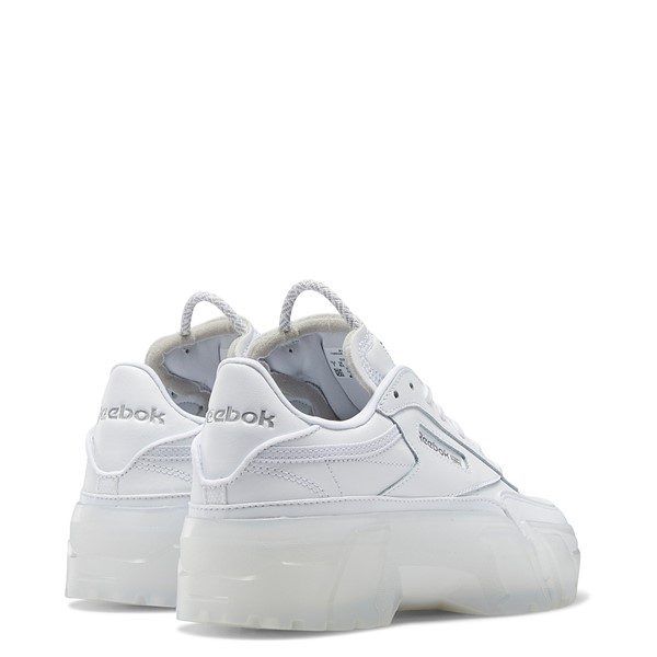 alternate view Womens Reebok x Cardi B Club C Athletic Shoe - White / ClearALT4