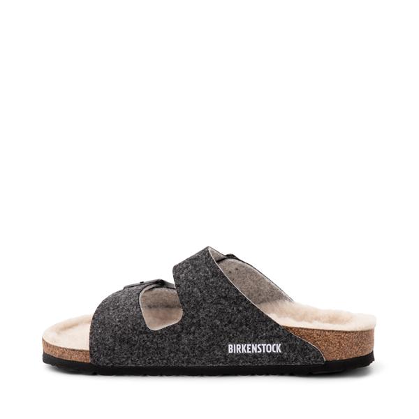 alternate view Womens Birkenstock Arizona Wool Felt Sandal - AnthraciteALT1