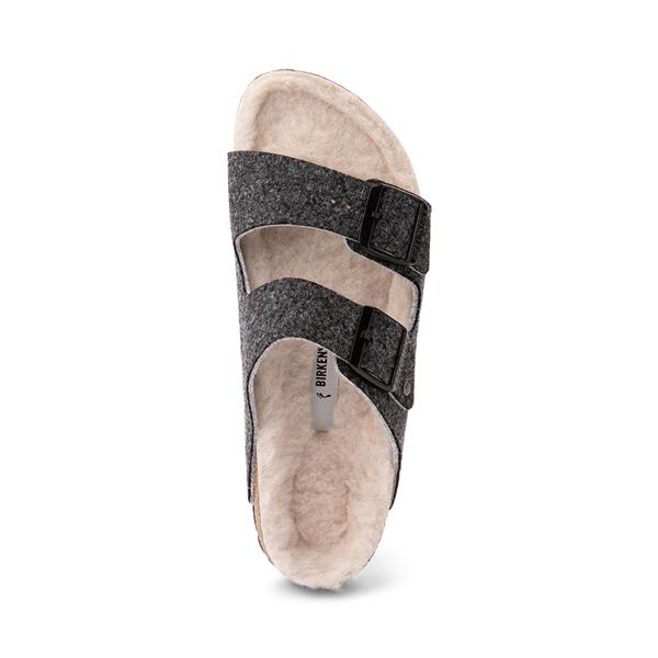 alternate view Womens Birkenstock Arizona Wool Felt Sandal - AnthraciteALT2