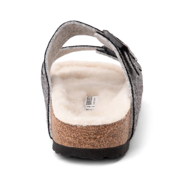 alternate view Womens Birkenstock Arizona Wool Felt Sandal - AnthraciteALT4