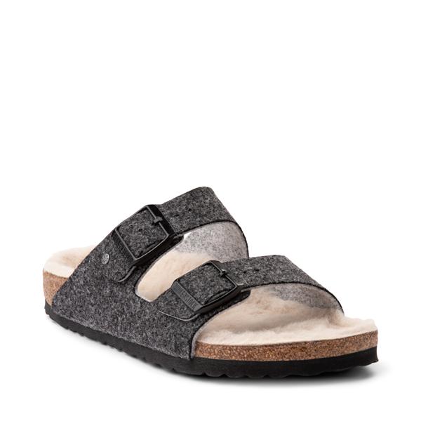 alternate view Womens Birkenstock Arizona Wool Felt Sandal - AnthraciteALT5