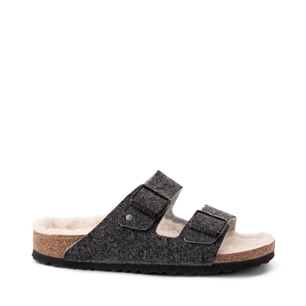 Womens Birkenstock Arizona Wool Felt Sandal - Anthracite