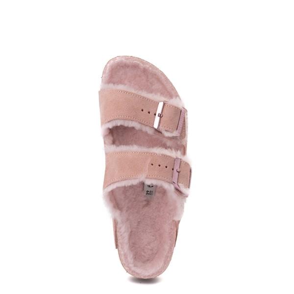 alternate view Womens Birkenstock Arizona Shearling Sandal - Light RoseALT2