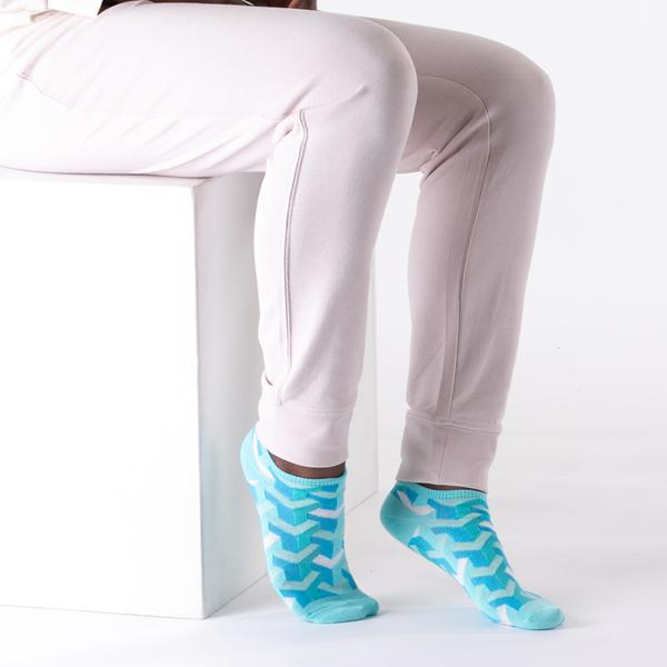 alternate view Womens Geo Glow Low Cut Socks 5 Pack - MulticolorALT2
