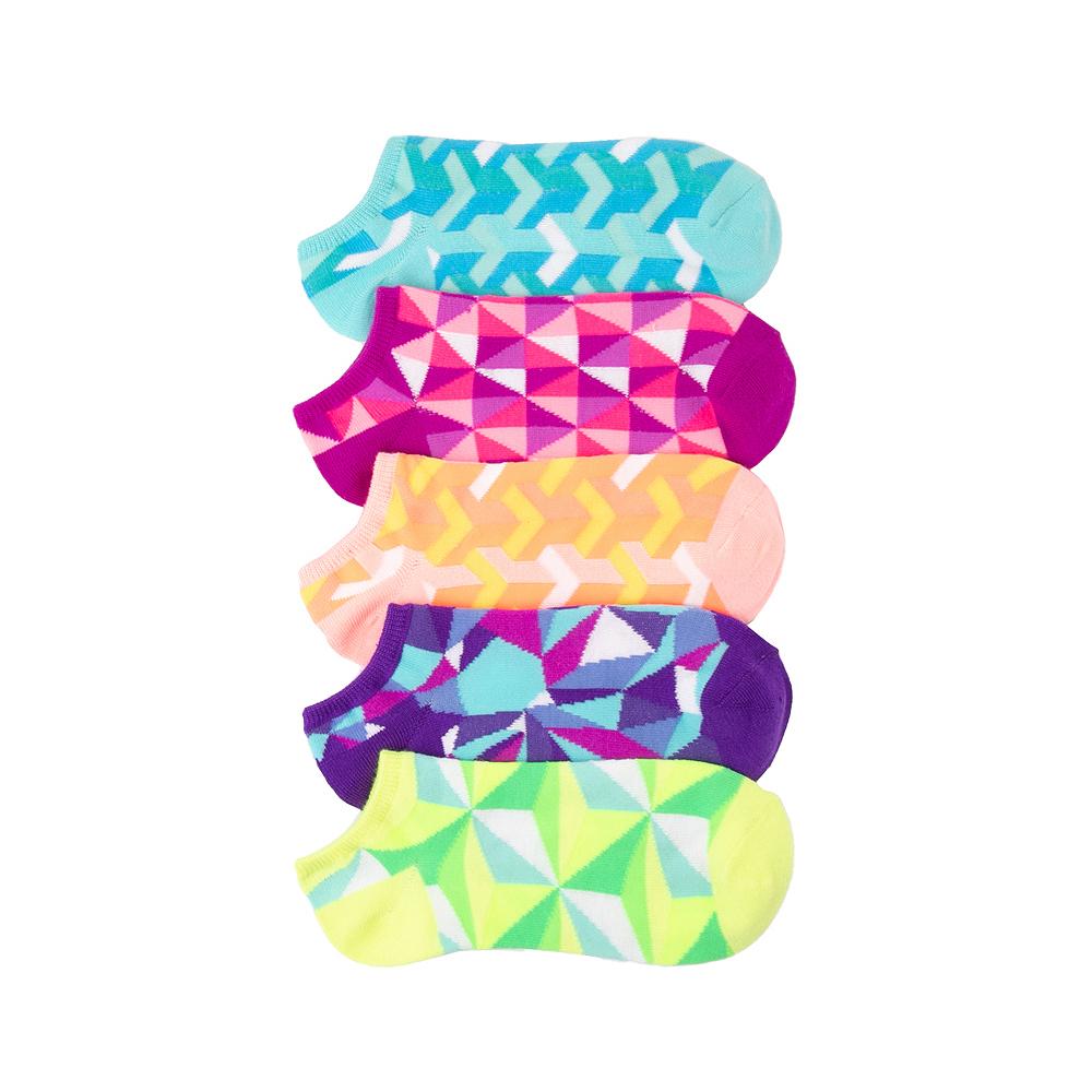Womens Geo Glow Low Cut Socks 5 Pack - Multicolor