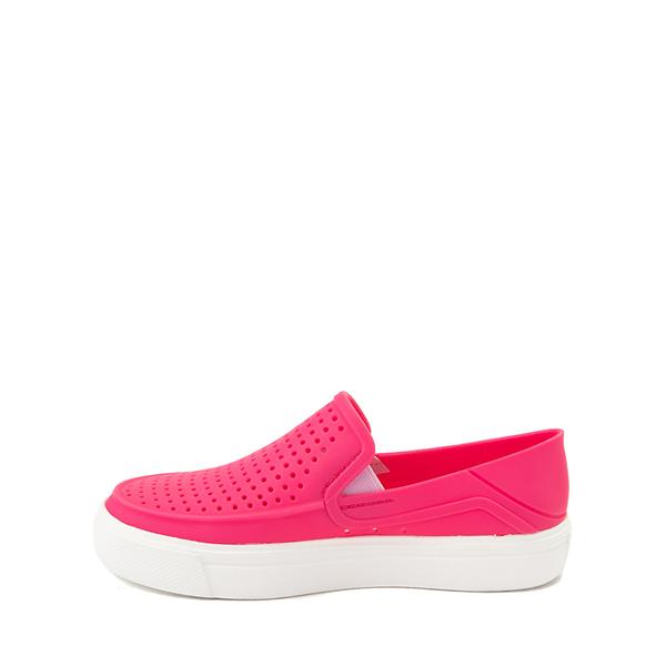 alternate view Crocs CitiLane Roka Slip On Casual Shoe - Little Kid - Paradise PinkALT1