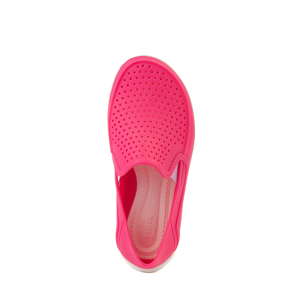 alternate view Crocs CitiLane Roka Slip On Casual Shoe - Little Kid - Paradise PinkALT2