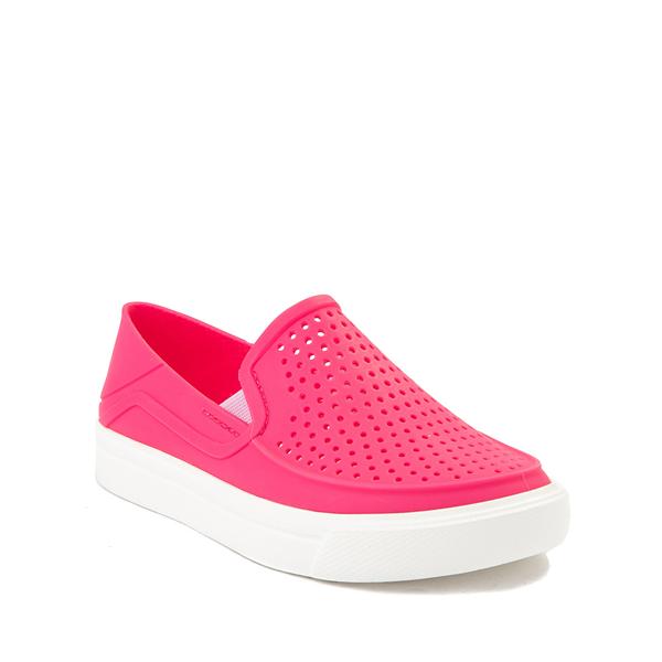 alternate view Crocs CitiLane Roka Slip On Casual Shoe - Little Kid - Paradise PinkALT5