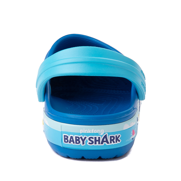 alternate view Crocs Fun Lab Baby Shark Clog - Baby / Toddler / Little Kid - Bright CobaltALT4