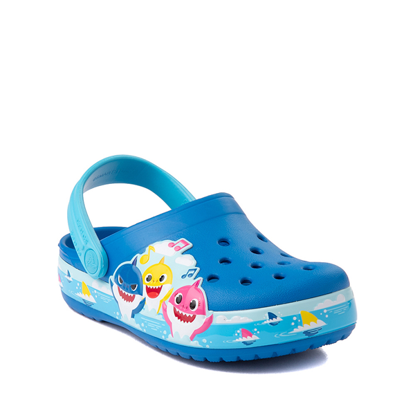 alternate view Crocs Fun Lab Baby Shark Clog - Baby / Toddler / Little Kid - Bright CobaltALT5