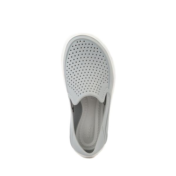 alternate view Crocs CitiLane Roka Slip On Casual Shoe - Baby / Toddler / Little Kid - Light GrayALT2