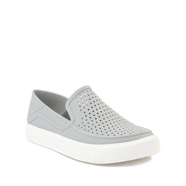 alternate view Crocs CitiLane Roka Slip On Casual Shoe - Baby / Toddler / Little Kid - Light GrayALT5