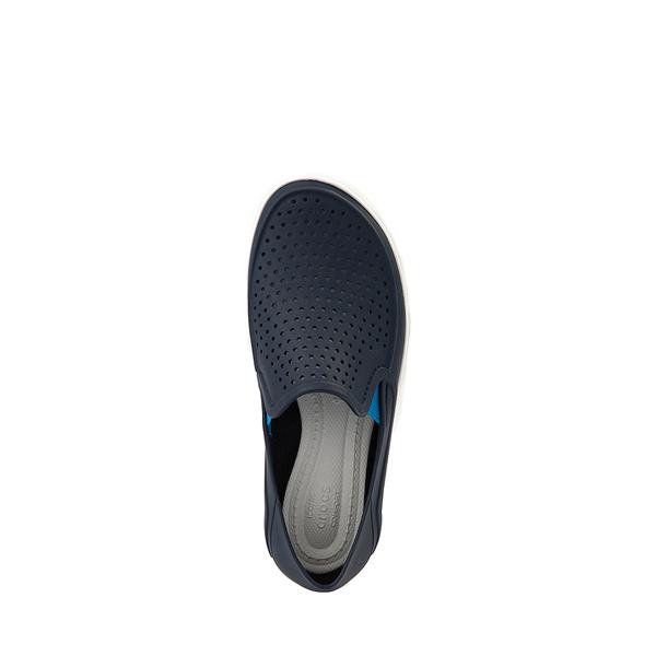 alternate view Crocs CitiLane Roka Slip On Casual Shoe - Baby / Toddler / Little Kid - NavyALT2
