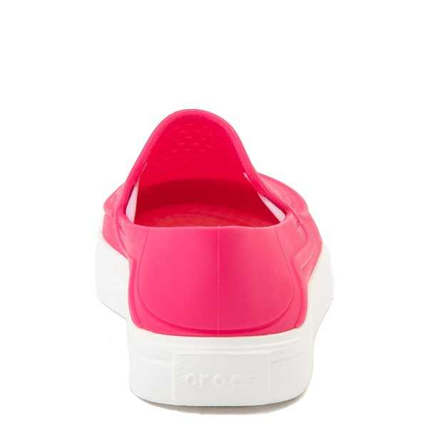 alternate view Crocs CitiLane Roka Slip On Casual Shoe - Baby / Toddler / Little Kid - Paradise PinkALT4