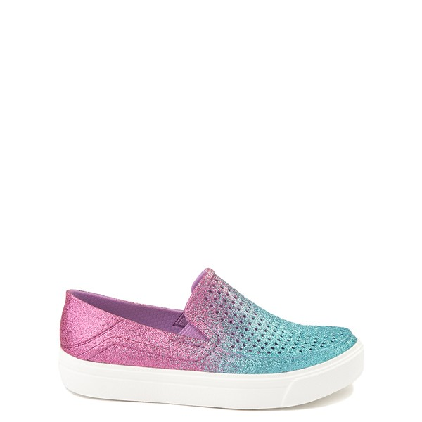 Crocs CitiLane Roka Glitter Slip On Casual Shoe - Baby / Toddler / Little Kid - Ice Blue / Paradise Pink