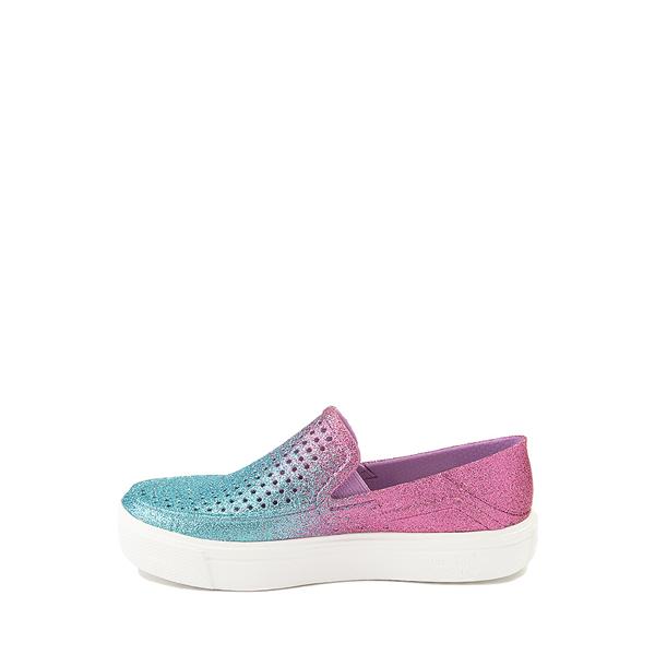 alternate view Crocs CitiLane Roka Glitter Slip On Casual Shoe - Baby / Toddler / Little Kid - Ice Blue / Paradise PinkALT1