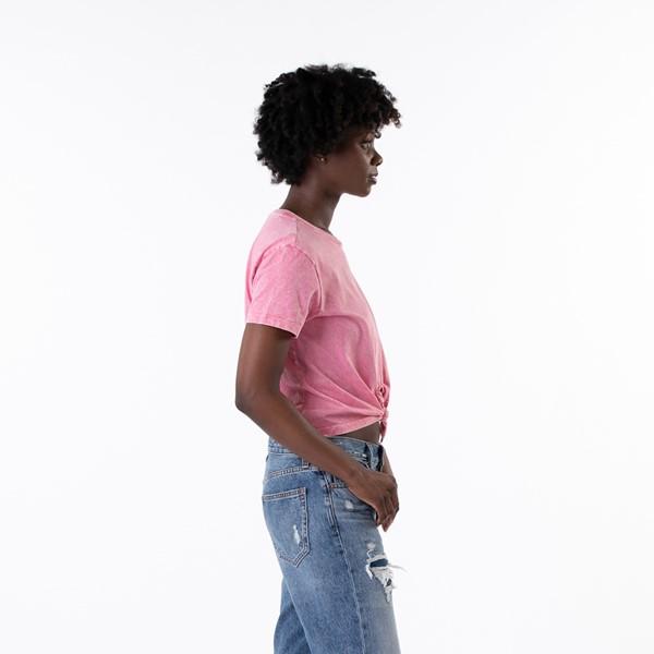 alternate view Womens Vans Junior V Boyfriend Knot Tee - Pink LemonadeALT2