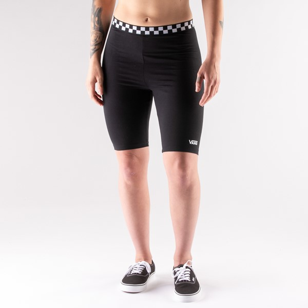 Womens Vans Checked Out Bike Shorts - Black