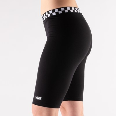 Alternate view of Womens Vans Checked Out Bike Shorts - Black