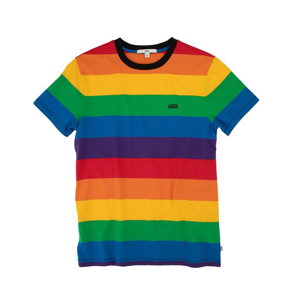 alternate view Womens Vans Pride Striped Tee - RainbowALT2