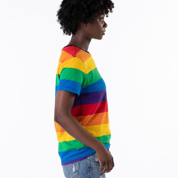 alternate view Womens Vans Pride Striped Tee - RainbowALT3