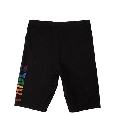 Alternate view of Womens Vans Pride Bike Shorts - Black / Rainbow