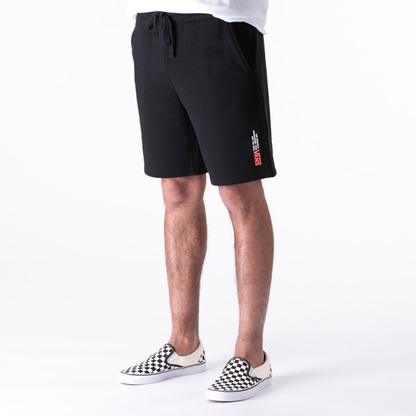 Mens Vans Sidestripe Fleece Shorts - Black