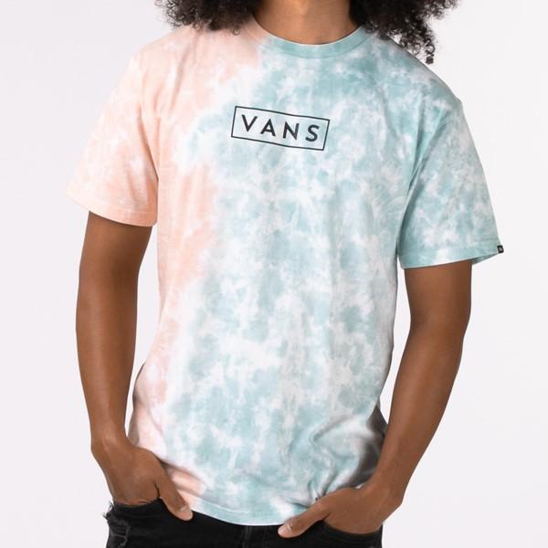 alternate view Vans Tie Dye Easy Box Tee - Fusion Coral / Cameo BlueALT1B