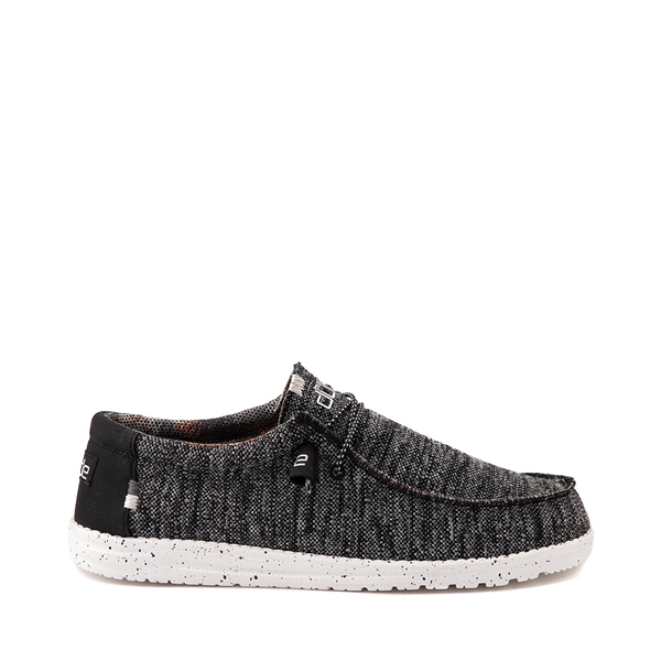 Mens Hey Dude Wally Sox Casual Shoe - Black / White