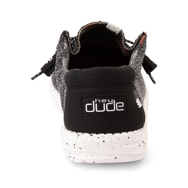 alternate view Mens Hey Dude Wally Sox Casual Shoe - Black / WhiteALT4