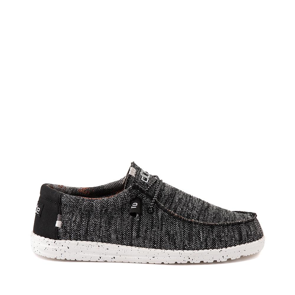 Mens Hey Dude Wally Sox Casual Shoe - Black / White