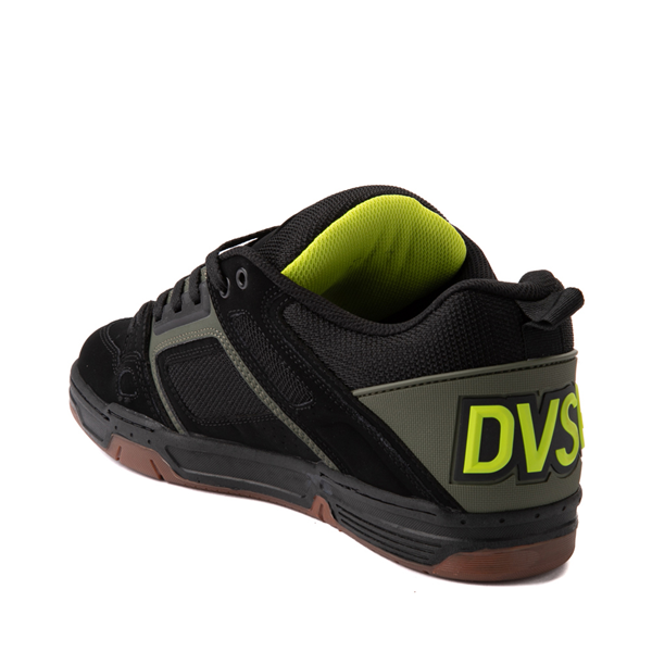 alternate view Mens DVS Comanche Skate Shoe - Black / Olive / GumALT1