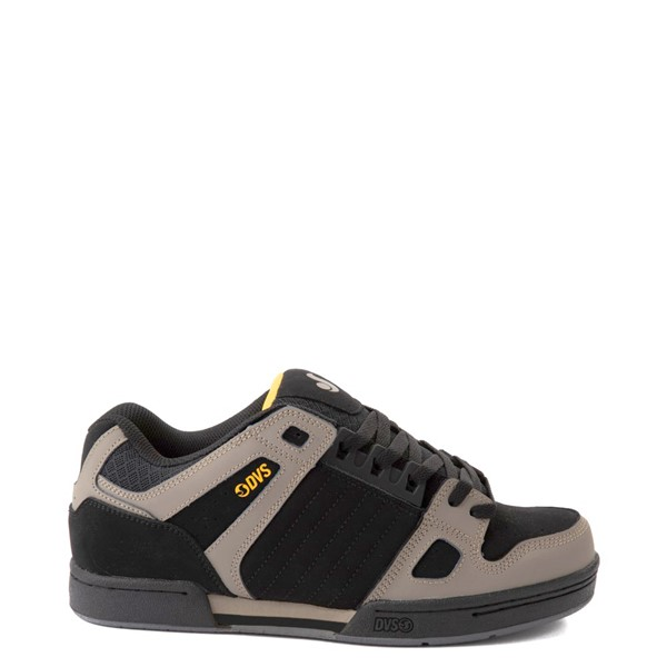 Main view of Mens DVS Celsius Skate Shoe - Black / Gray / Yellow