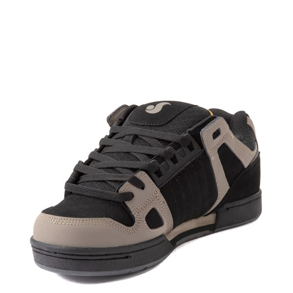 alternate view Mens DVS Celsius Skate Shoe - Black / Gray / YellowALT3